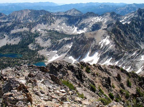 Looking back down the ridgeline