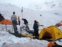 Our Campsite at Camp Schurman