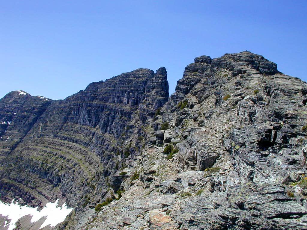 Gap in the ridgeline