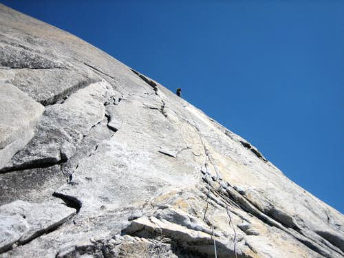 South Crack, first pitch