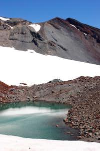Lake at the base of Lewis Glacier