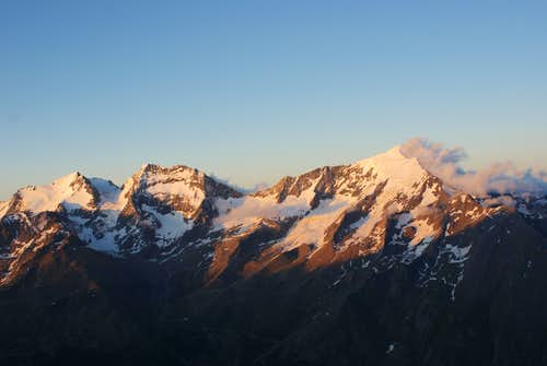 Weissmies, Lagginhorn and Fletschhorn