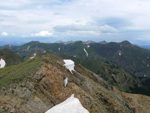 Looking north from the summit
