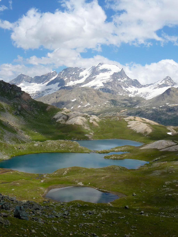 Gran Paradiso from Trebecchi lakes