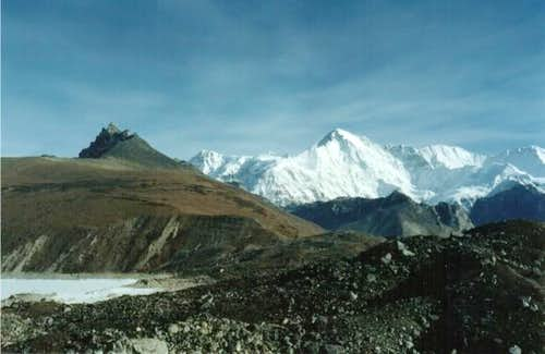 Cho Oyu on the way to the...