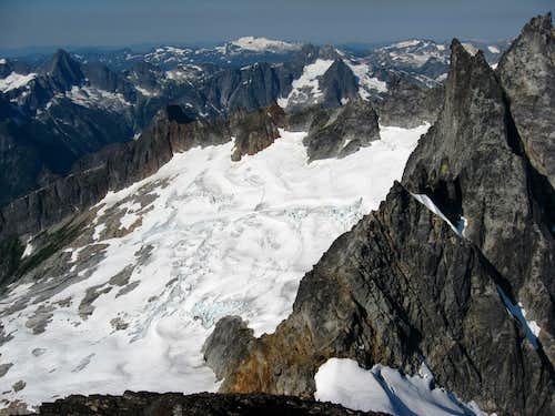 Looking down on the Terror Glacier