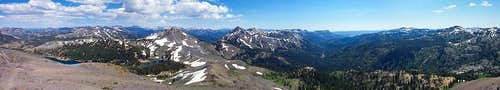 Folger Peak Summit Panorama