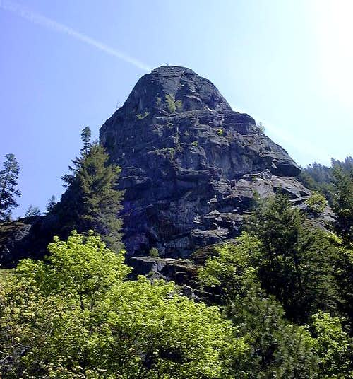 Castle Rock towering above...