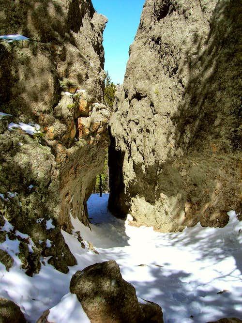 Trail Narrows in Winter
