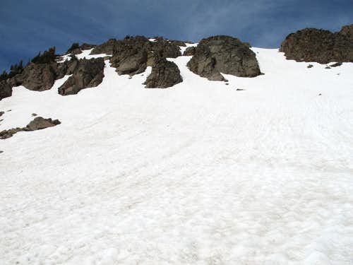 Snow Slopes on Mac Leod Peak