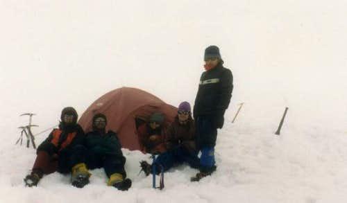 Campamento en el glaciar del...