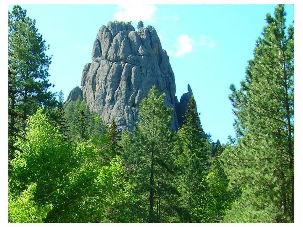 Granite formation in the wilderness