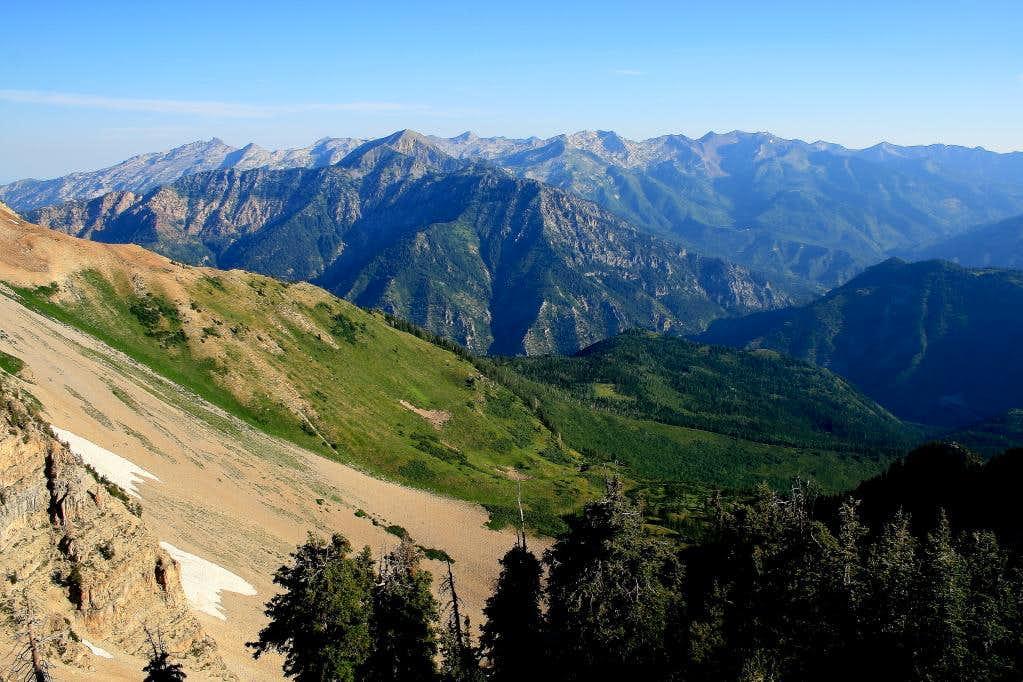 View north from Forgotten Peak.