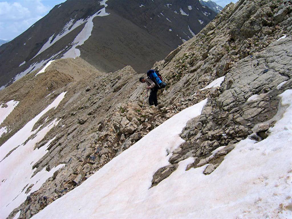 Traversing the Eastern Slopes of Changiz Chal I