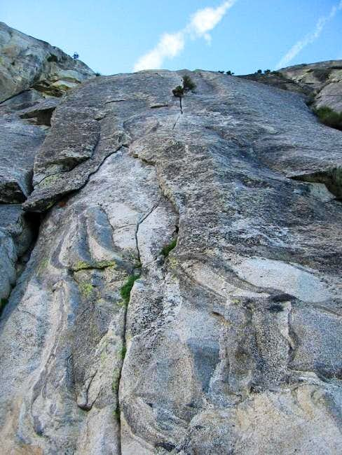 Dave\'s Deviation, 5.9R route...