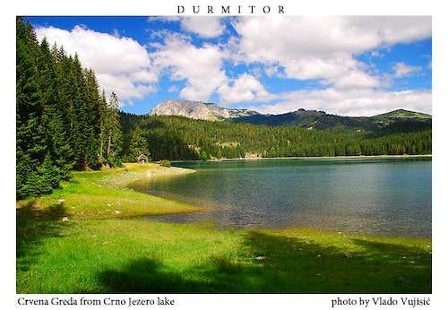 Crvena Greda from Crno Jezero lake