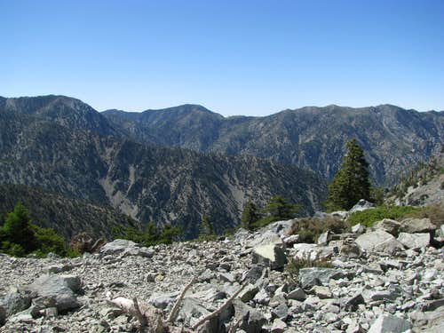 San Gabriels along Baldy Bowl Trail