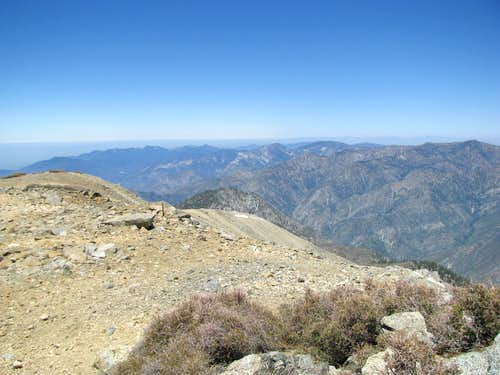 West towards the Pacific from West Baldy