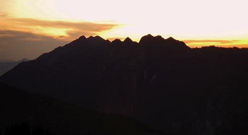 The Cottonwood Ridge at sunset