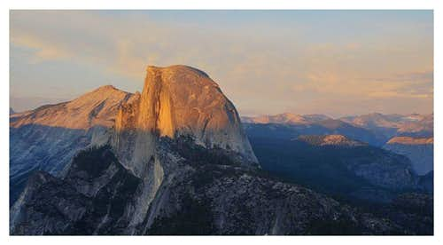 sunset half dome