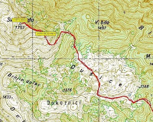 Sveto Brdo eastern route