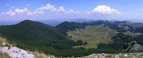 Dusice valley panoramic