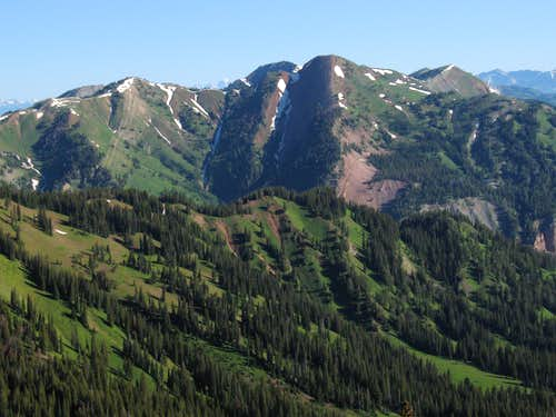View from NE Ridge of Hoback Peak