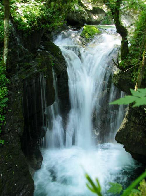 Waterfall in Sunnikov Gaj