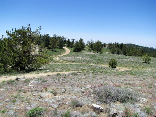 West from Pinos Summit