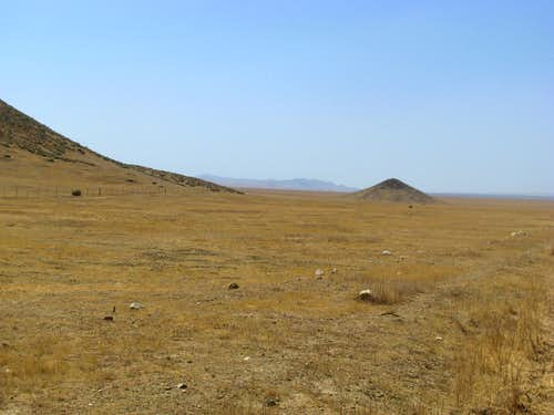 curious landscape in Carrizo Plain