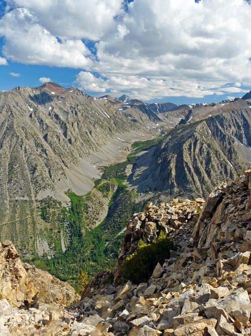 Over Lundy Canyon from Mt. Olsen