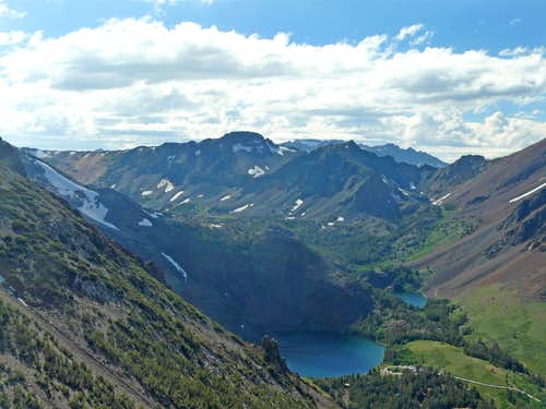 Virginia Lakes area from Mt. Olsen