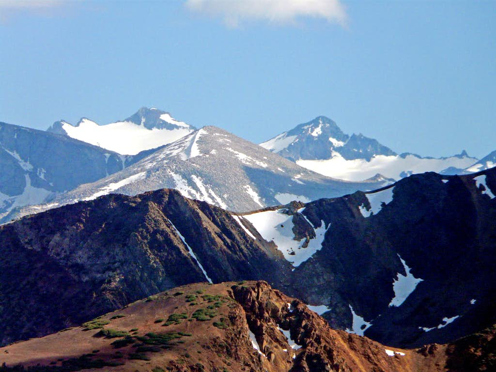 Mt. Lyell and Mt. Maclure from Mt. Olsen