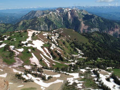 View to the Tetons and Gros Ventres