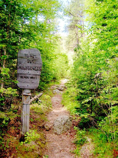 Black Elk Wilderness Boundary