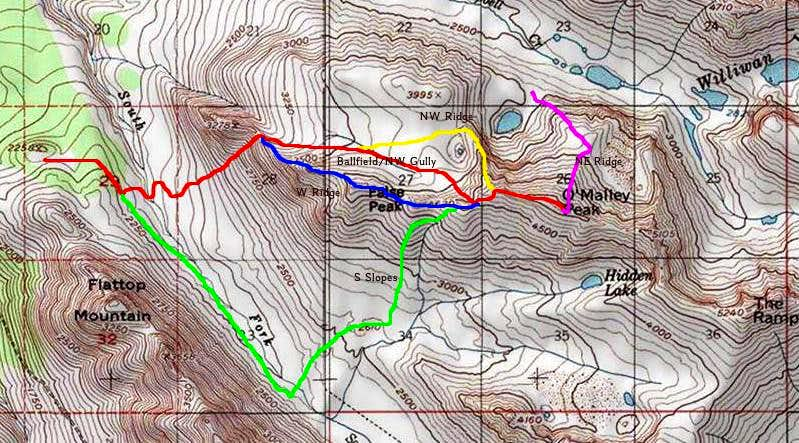 O'Malley Peak Routes