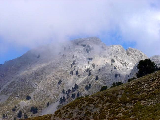 The view of the summit of...