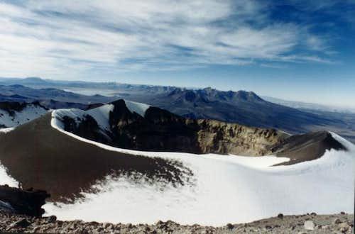 Crater desde la cima.