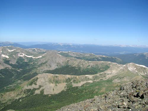 West from summit