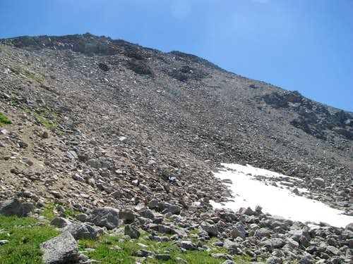 a large heap of talus