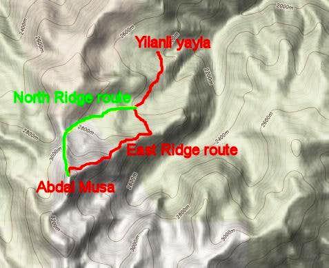 Cit Creek route outline