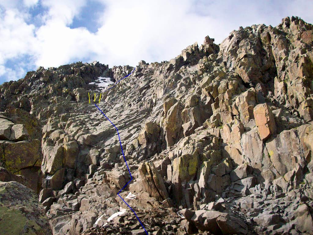Crux of North Buttress