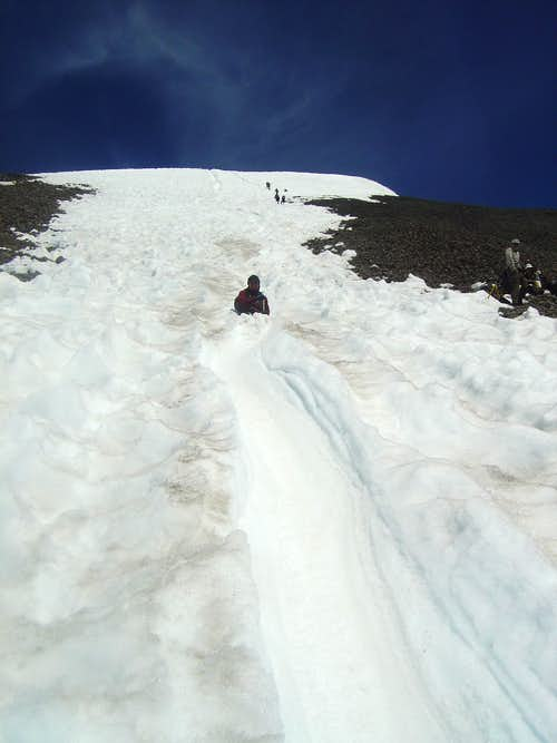 Mt Adams Glissading