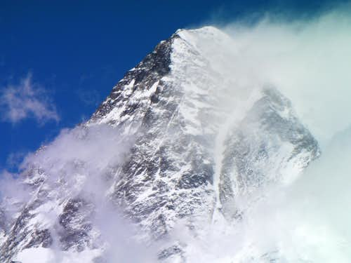 K2 from 6600 meters on Broad Peak