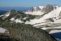 Sugarloaf Mountain and Medicine Bow Peak (South of the Summit)