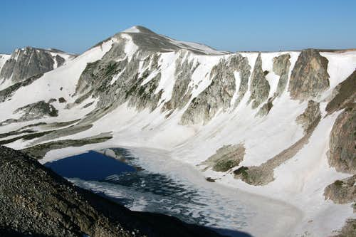 Medicine Bow Peak and South Gap Lake