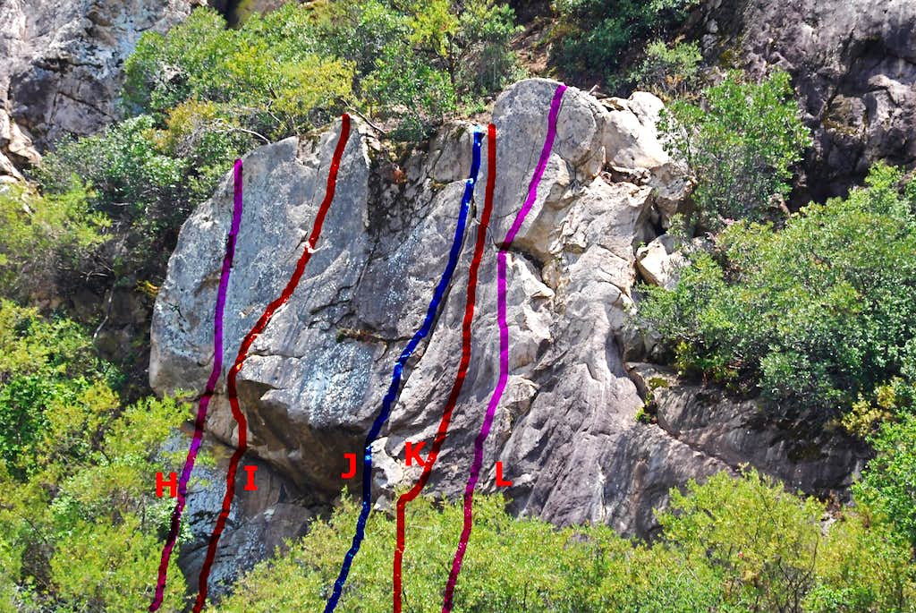 Routes of the smaller formation