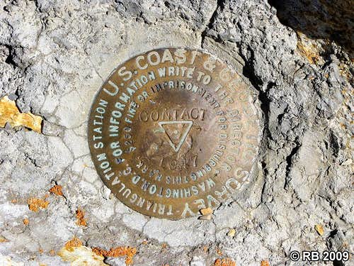 Ellen D Mountain triangulation station marker