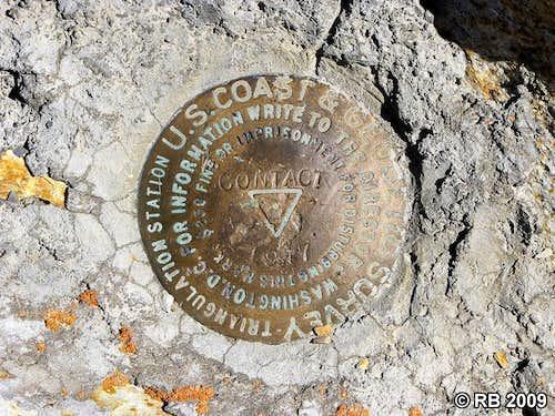 Ellen D Mountain triangulation station marker
