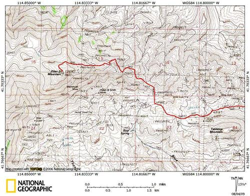 Ellen D Mountain access route (2/2)
